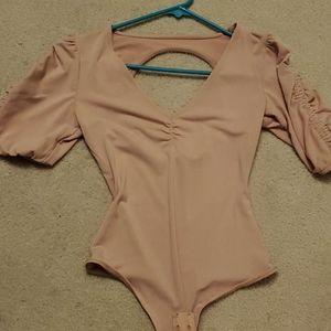 Guess blush bodysuit xs